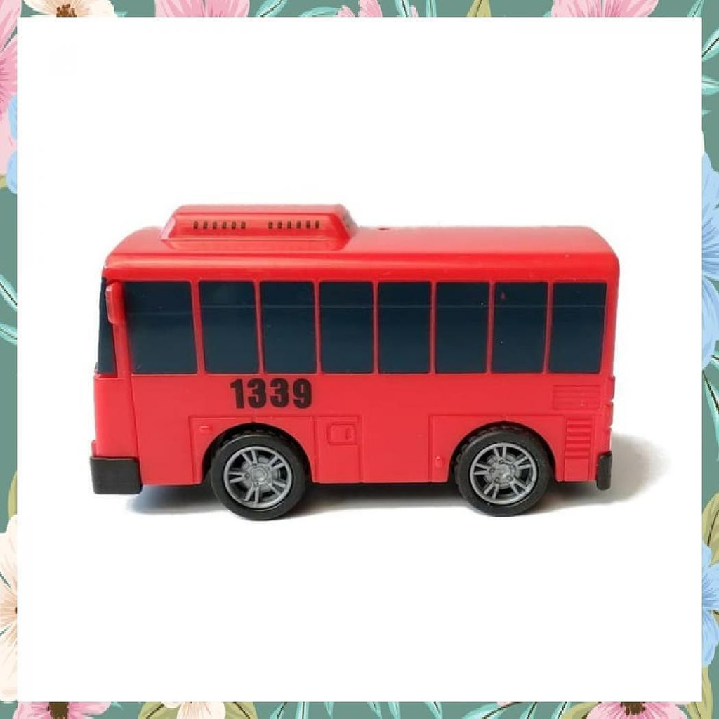 1PCS LITTLE BUS TAYO MAINAN MOBIL PULL BACK CAR MERAH