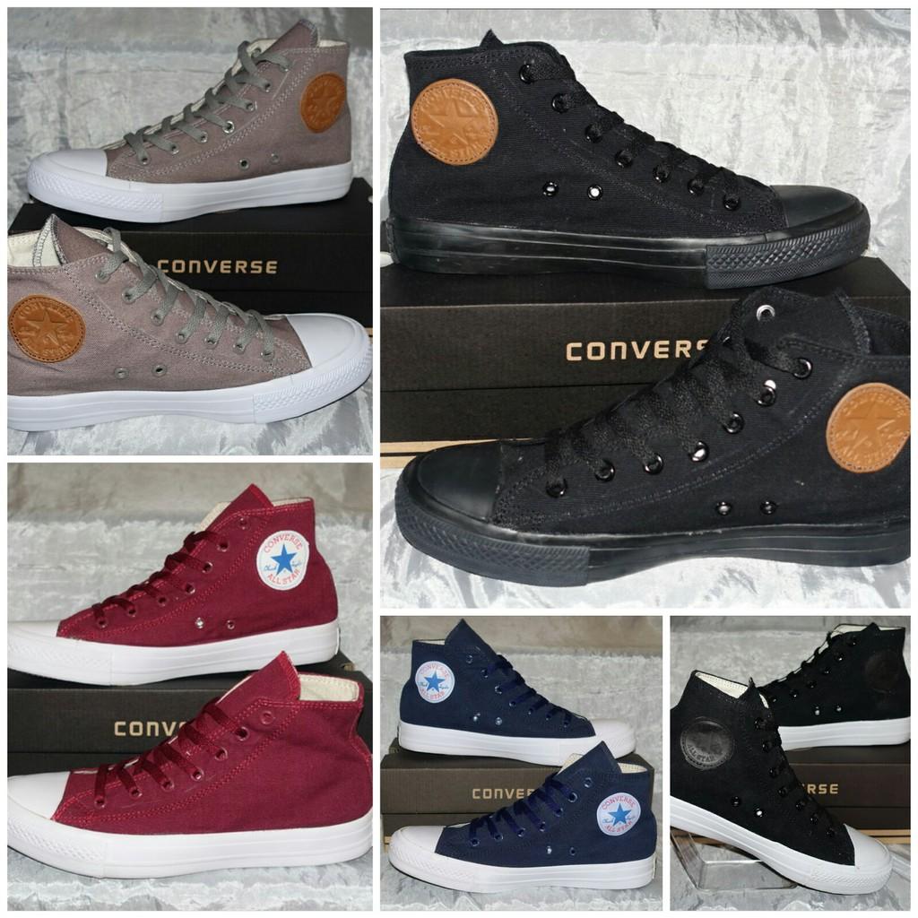 Sepatu sneakers converse chuck taylor all star classic high maroon ... 62606d61f1