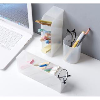 Muji Style 4 Grid Desktop Storage Multi-function Box  Desk Pen Pencil Case Make Up Cosmetic Holder #3