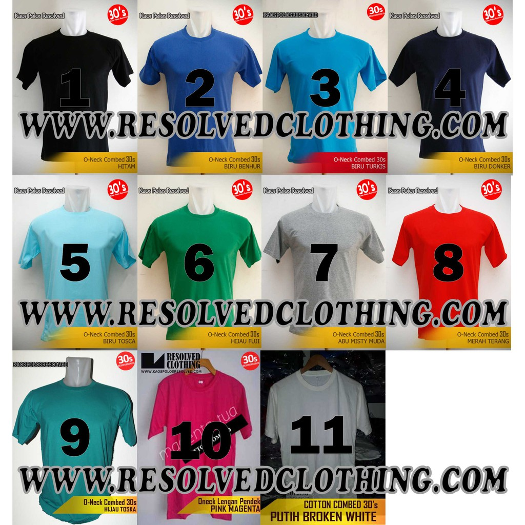 Kaos Polos 100 Asli Cotton Combed 30s Shopee Indonesia Pria Lengan Panjang Weekend Itc Ls