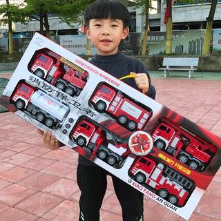 Besar Tahan Jatuh Truk Pemadam Kebakaran Mainan Set Anak Inersia Mobil Derek Men Shopee Indonesia