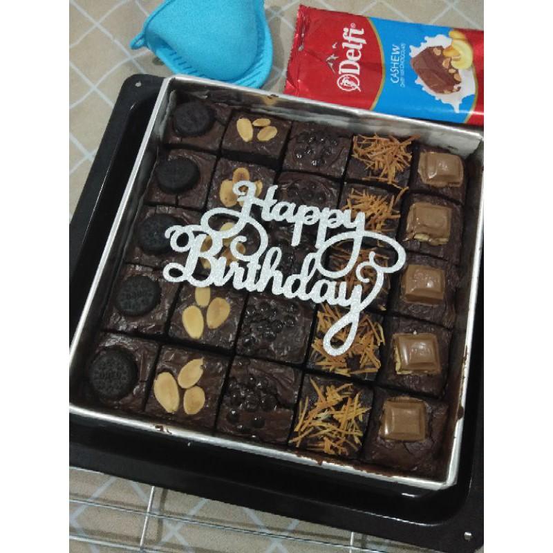 Fudgy brownies / brownies sekat / brownies ulang tahun ekonomis