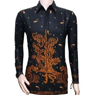 Baju Batik Couple Sarimbit Jumputan Hitam SM035  802b30267c