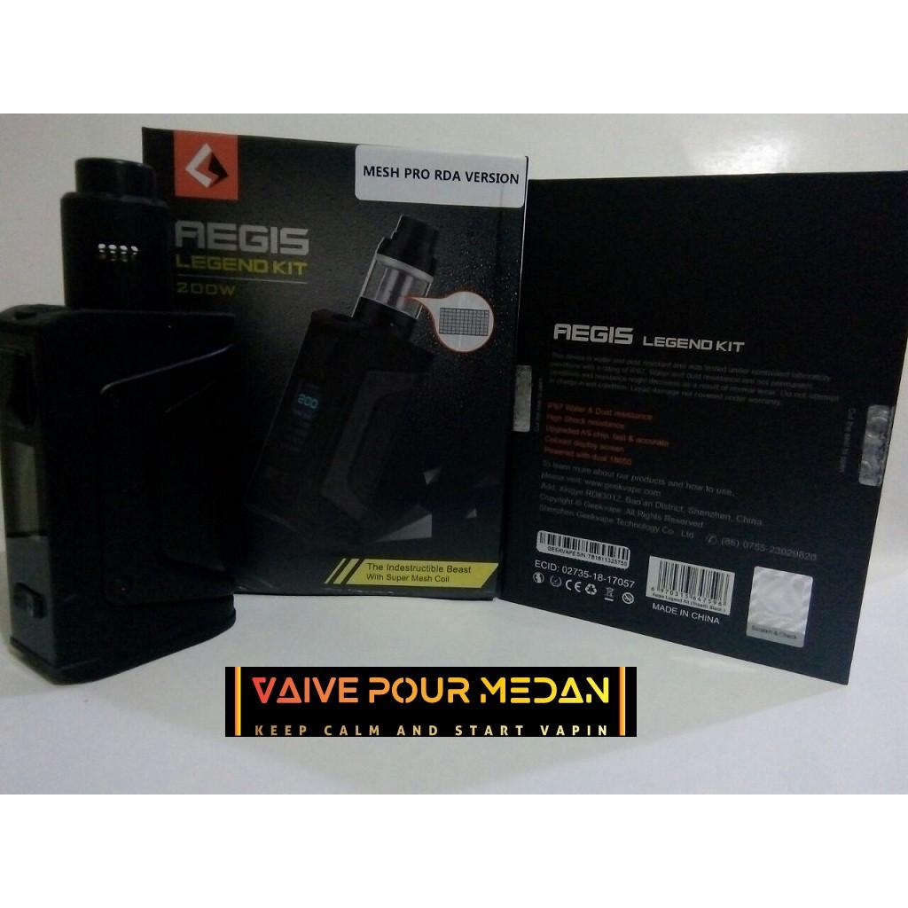 Geekvape Aegis Legend Tc Kit 200w With Aero Tank Authentic Shopee Mod Box Indonesia