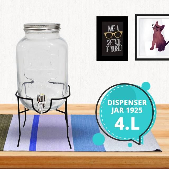 Glass Dispenser / Dispenser Toples Kaca Kran / Ukuran 4000ml | Shopee Indonesia
