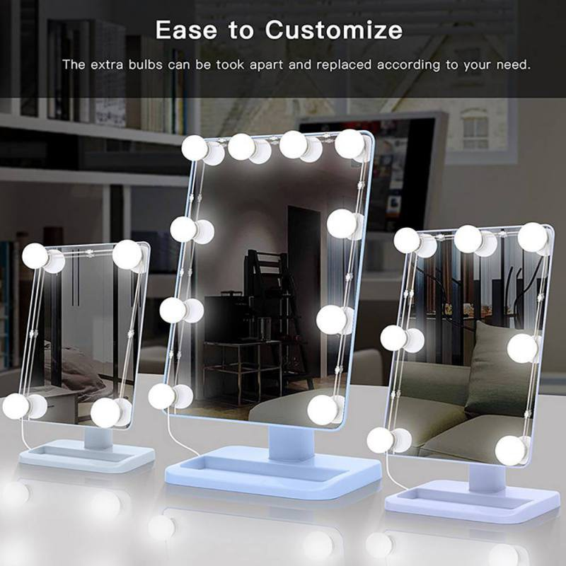 Usb Vanity Mirror Lights Kit With 10 Led Dimmable Light Bulbs For Bathroom Makeup Dressing Table