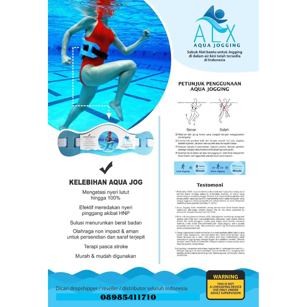 Alx Water Jogging Belt Pelampung Pingang Terapi Syaraf Kejepit Cap Kepala Untuk Renang 5 Alat Shopee Indonesia