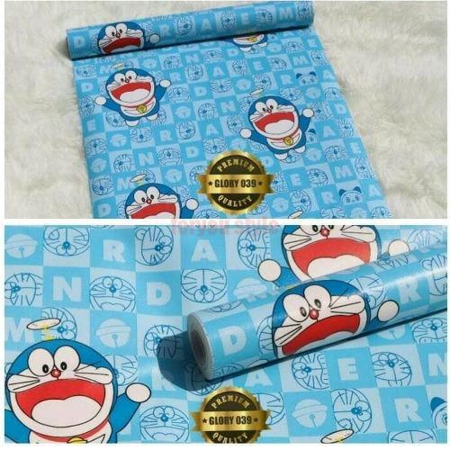 Wallpaper Dinding Motif Doraemon Kamar Anak Wallpaper Sticker Karakter Shopee Indonesia