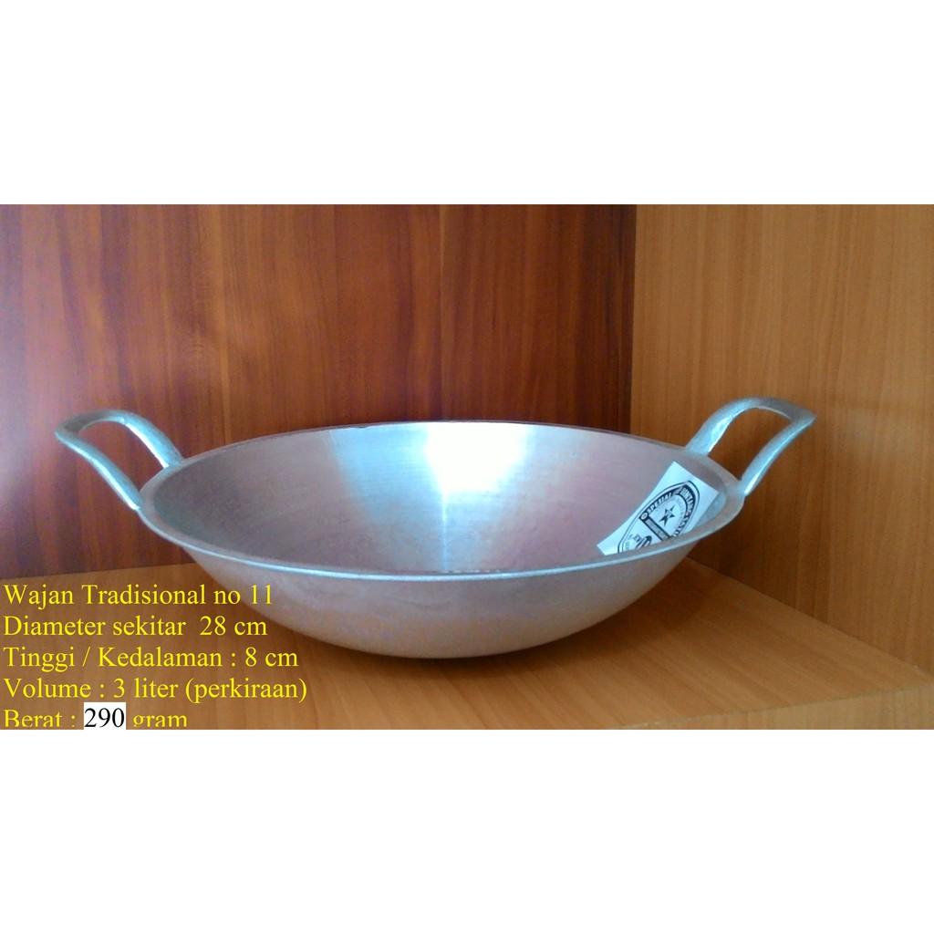 Wajan Penggorengan No 10 11 12 13 Diameter 25 28 29 32 Cm Tradisional Pan Shopee Indonesia Harga wajan besar murah