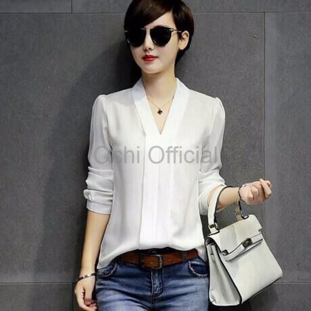 Baju Original Blus Ratura Top Blouse Wolfice Baju Atasan Wanita Muslim  Panjang Pakaian Kerja Santai Casual 1b5cbbed7a