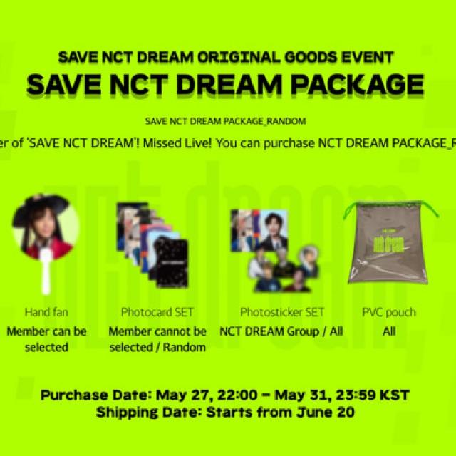 nct dream puff member set