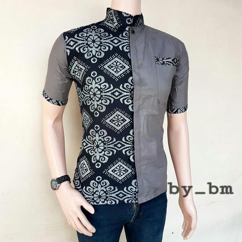 Baju Batik Pria Terbaru Kombinasi
