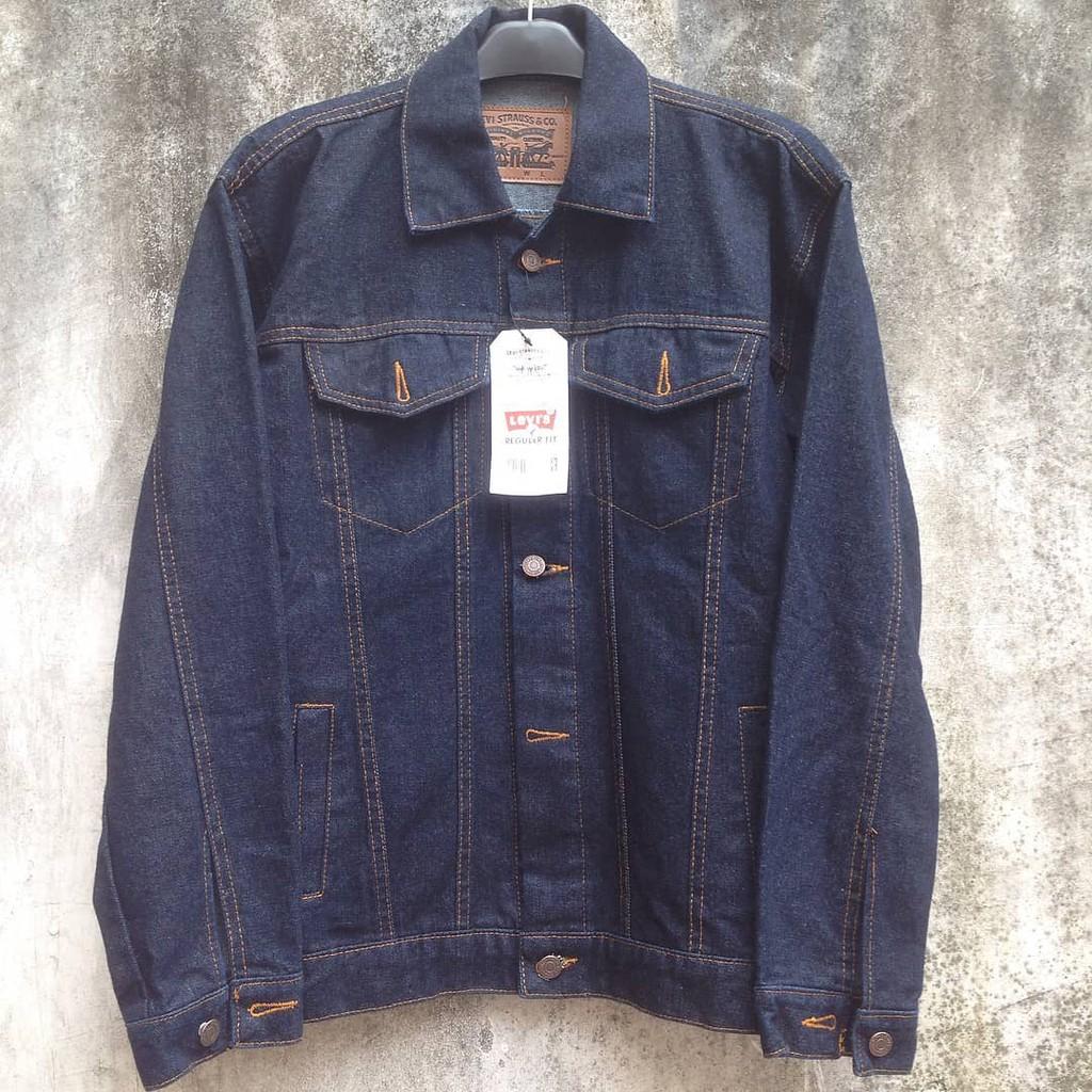 Oversize Denim Jacket Jeans Premium Jaket Cowok Panjang Pria Shopee Indonesia