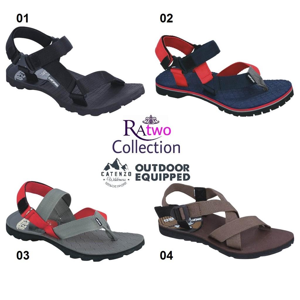 Belanja Online Sandal Sepatu Pria Shopee Indonesia Catenzo Outdoor Full Black