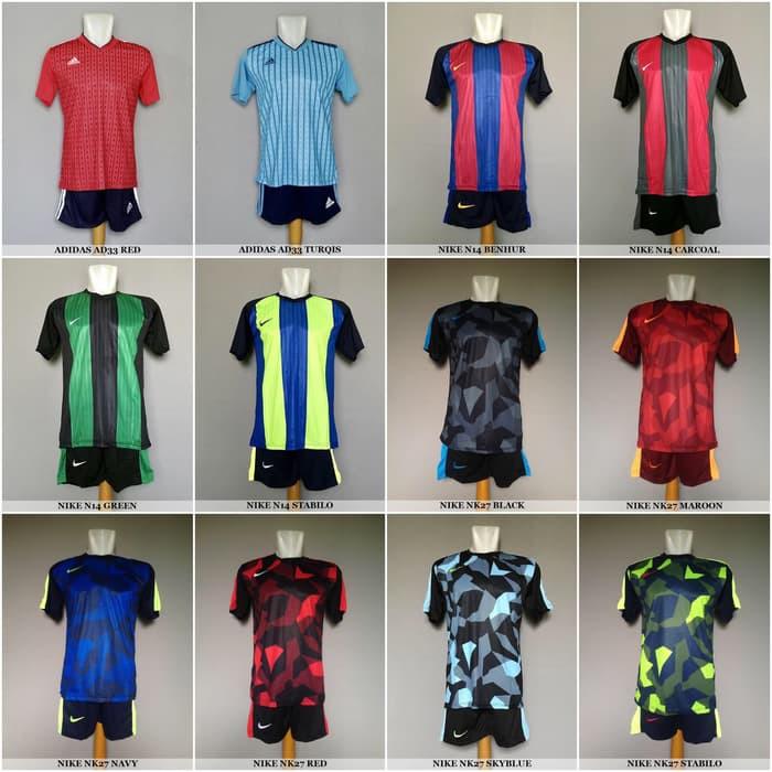 729de7f7f3 Baju Kaos Olahraga Jersey Bola Setelan Futsal Adidas Nike Puma Murah vm