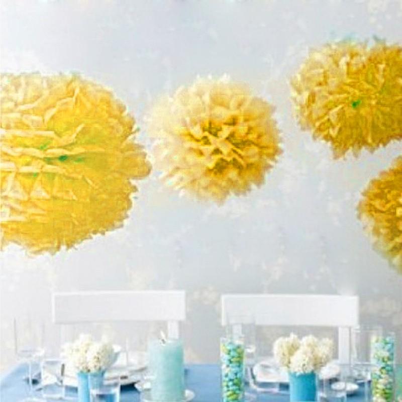 Merssavo 1//10pcs 12 Tissue Paper Pom Pom Flowers Wedding Birthday Kids Baby Party Decor