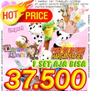 Boneka Jari Tangan Binatang Hewan Animal finger puppet puppets toys doll  Fidget spinner d617af1e4b