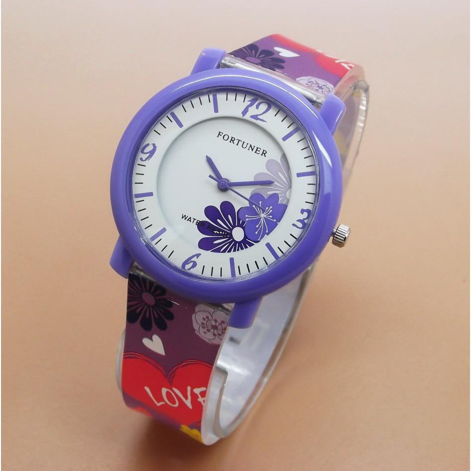 (Jam Promo Shopee!!) Jam Tangan Wanita   Cewek Fortuner Original FR1015  Rubber Purple  0f3198a4cf