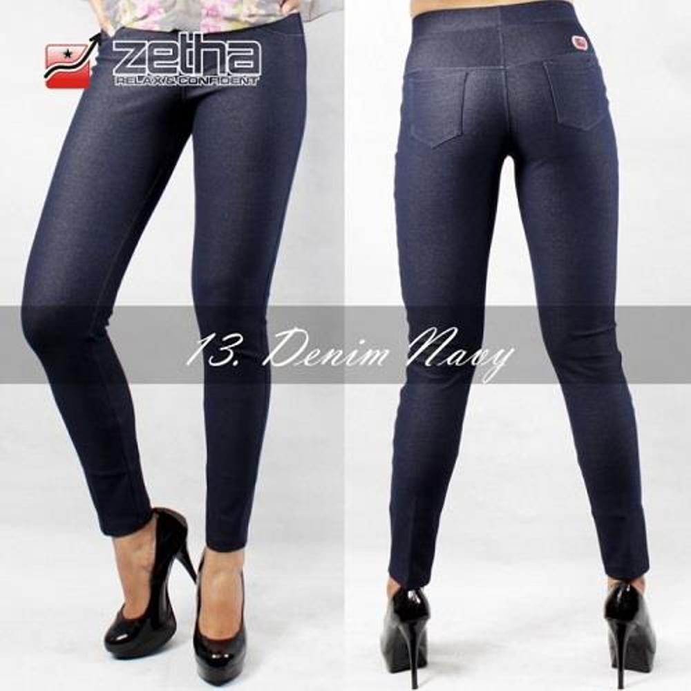 Legging Zetha Denim Biru Original Termurah Shopee Indonesia Sedang