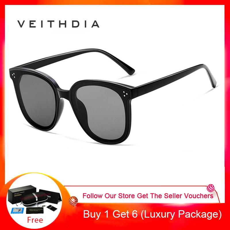 VEITHDIA Unisex Vintage kacamata Polarized Photochromic Len untuk pria/ wanita 8510