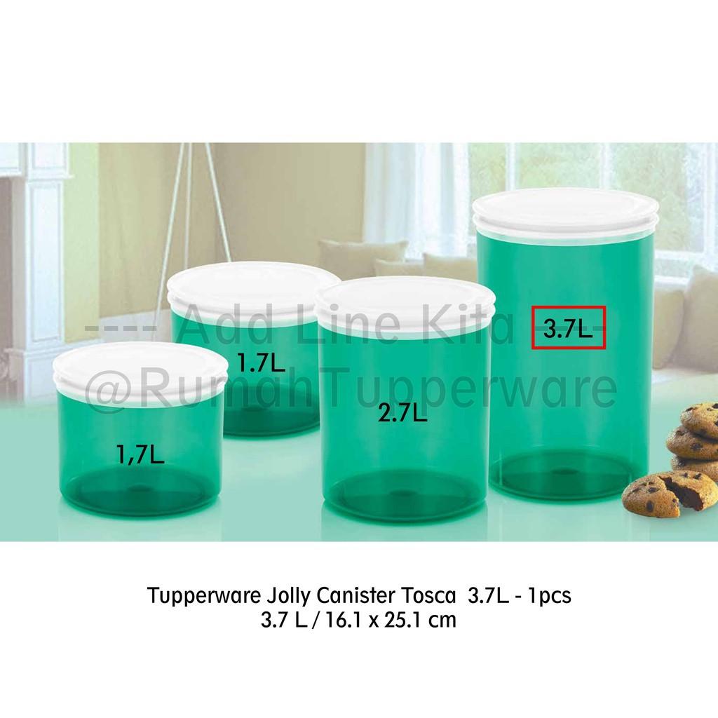 Tupperware Jolly Keeper Hijau Toska 3.7L (1pc Toples - Activity) | Shopee Indonesia