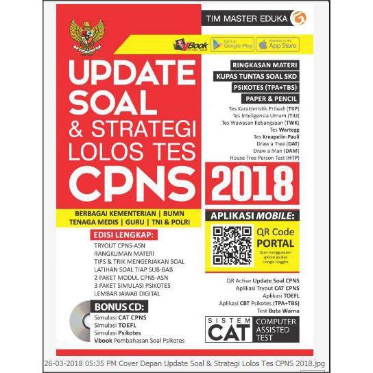Update Soal Strategi Lolos Tes Cpns 2018 Aplikasi Qr Kode 603 Shopee Indonesia