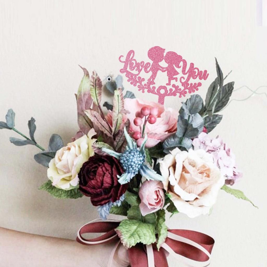 Fancy Bouquet Rosegold Topper Topper Ucapan Untuk Hadiah Buket Bunga Shopee Indonesia