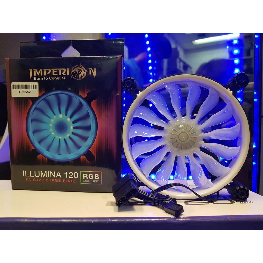 Coolerfan Segotep Halo 12cm Ring Fan White Led Shopee Indonesia Casing Yf 12 Red Hydro Bearing