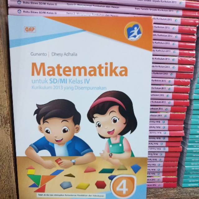 Buku Siswa Matematika Kelas 4 Sd Kurikulum 2013 Gap Shopee Indonesia