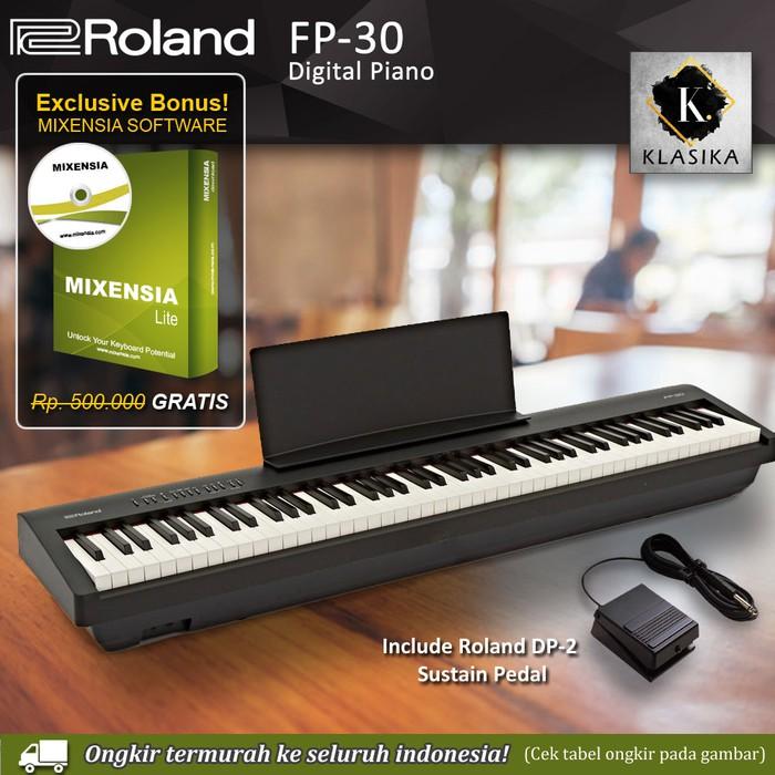 Piano Roland Fp 30 Fp30 Digital Piano Black White Alat Musik Music Shopee Indonesia