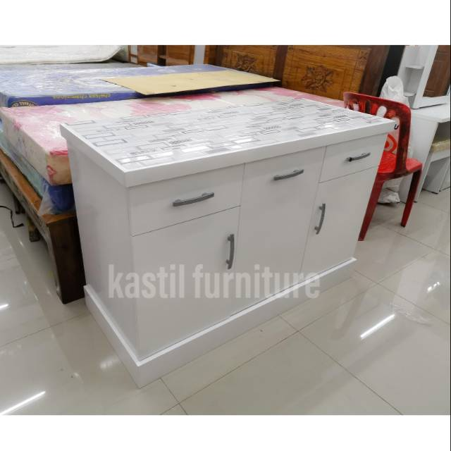 Meja Dapur Kayu Keramik Kitchen Set Bawah Keramik Shopee Indonesia