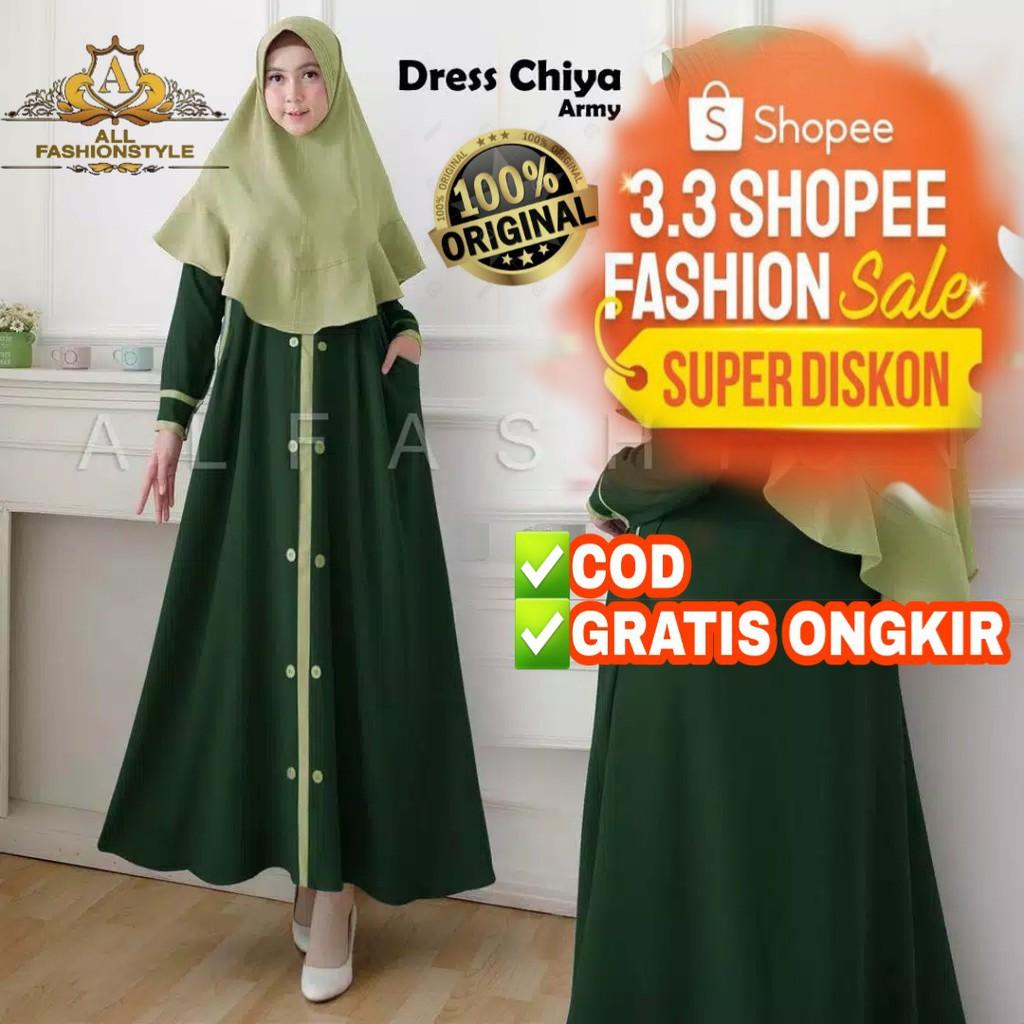 [COD] Toko Baju Gamis Dress Polos Remaja Wanita Indah Promo Baju Wanita  Lebaran Muslim Top Terlaris