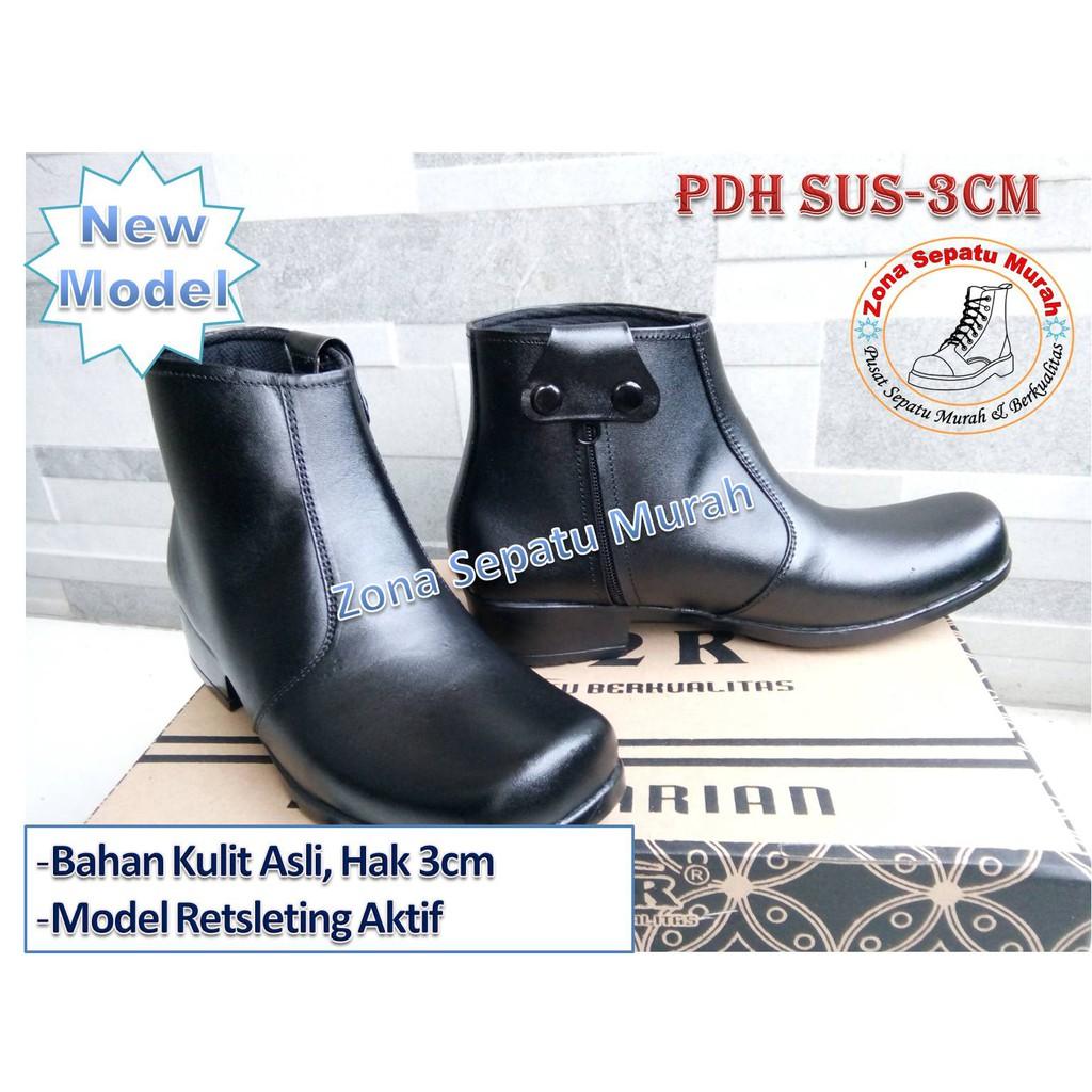 Sepatu PDH Wanita Kulit Sapi Asli / Sepatu Kulit Wanita / Sepatu Hak Tinggi / Sepatu Kerja Wanita   Shopee Indonesia