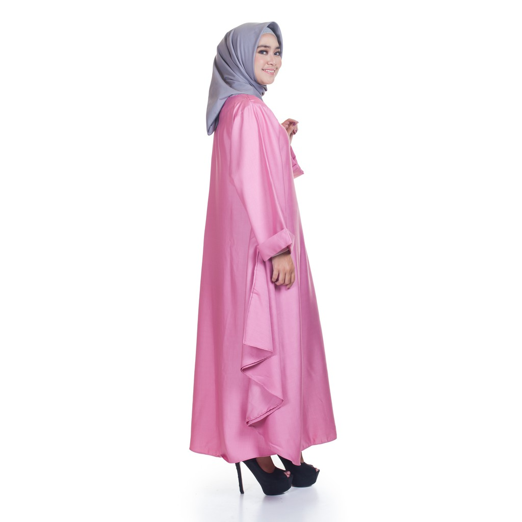 Mybamus Office Looked Dress Pink Rose By Almera Premium Material Reyna Mocca M12998 R18s1 R17s5 Shopee Indonesia