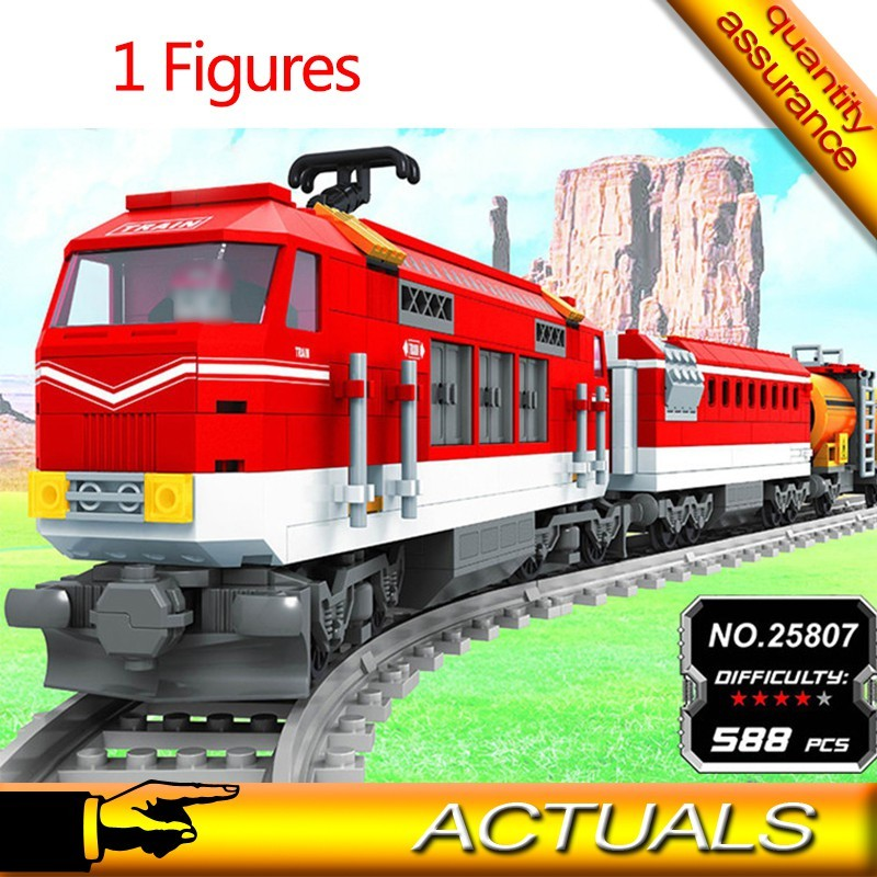 AUSINI Mainan Building Blocks/Lego DIY Seri Kereta Api ...