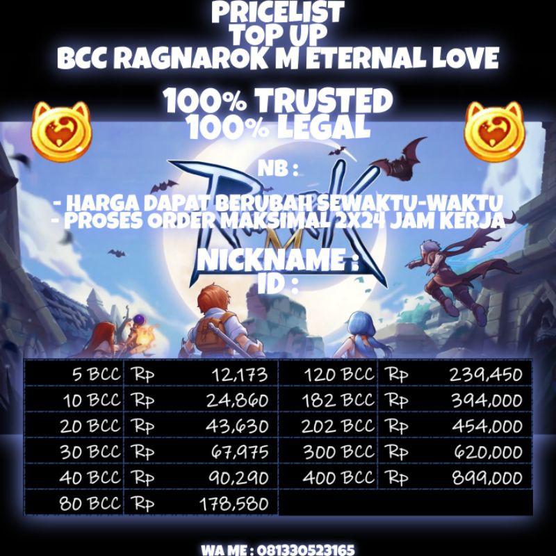 Ragnarok Eternal Love Top Up Big Cat Coins Bcc Ragnarok Mobile 2 Shopee Indonesia
