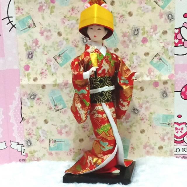 Boneka geisha hepang  boneka jepang  pajangan jepang  souvenir  hadiah   kado  miniatur geisha  209f740c0b