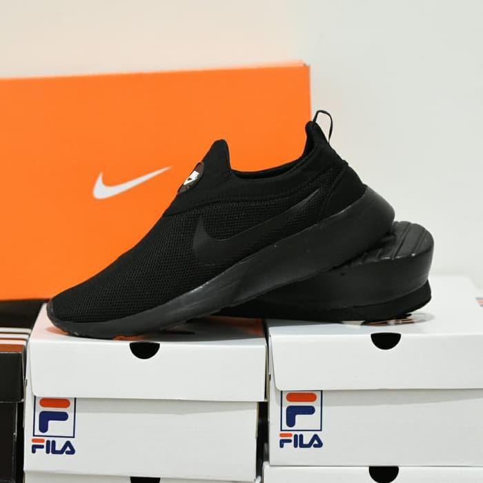 Sepatu Sport Santai Nike Kaishi Run Slip On Slop Tanpa Tali Full