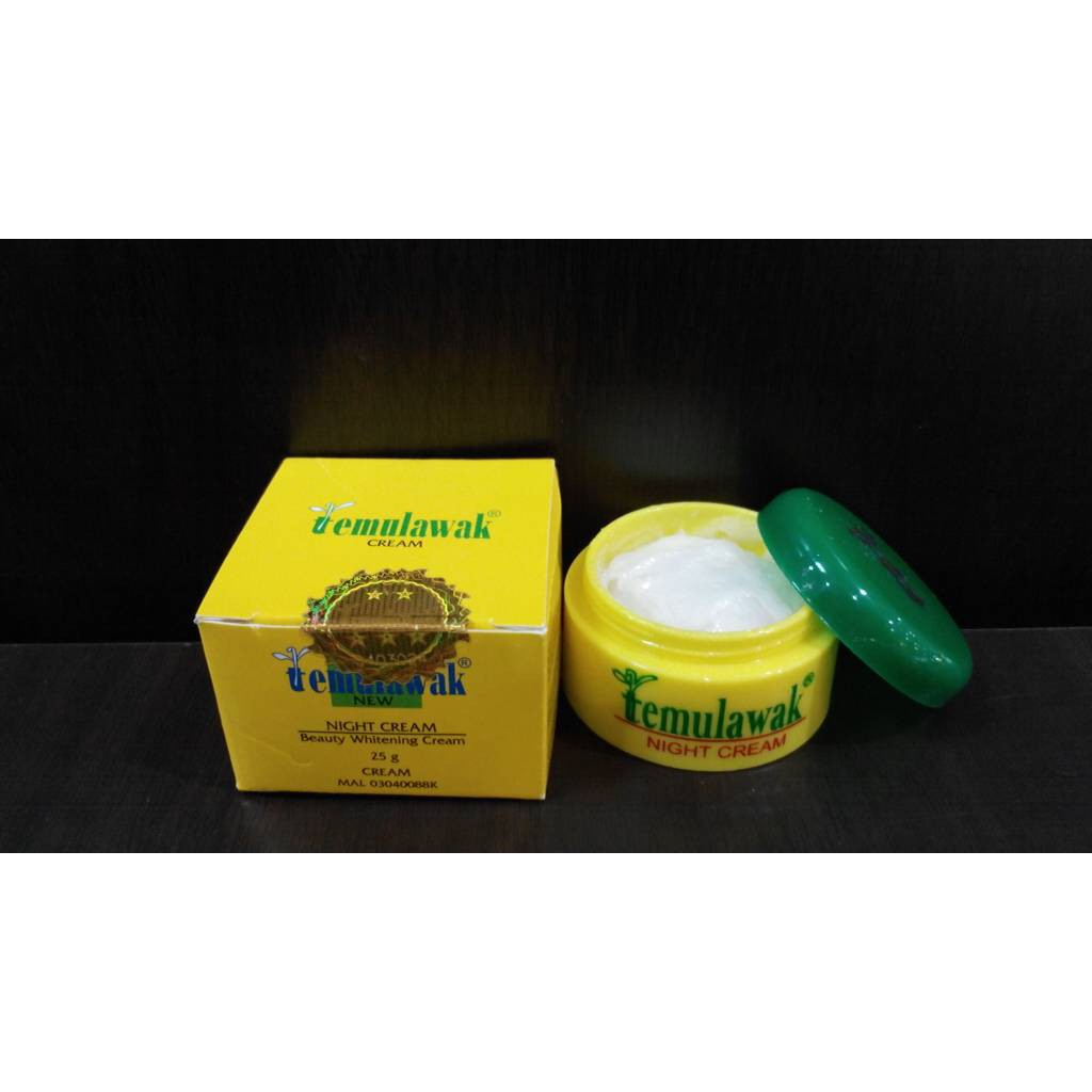 Cream Temulawak Malam Original Shopee Indonesia Krim Day Night Pot Kuning Holo Emas Super