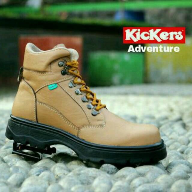 JUAL sepatu KICKERS DELTA sepatu boots safety suede pria ujung besi sepatu  proyek sepatu gunung  76f8b0ab9c