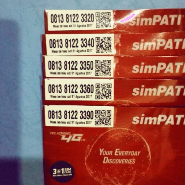 Kartu Perdana Simpati Telkomsel Nomer Nomor Cantik Nocan Jaringan Internet 4G Murah 0812 812233 65 |