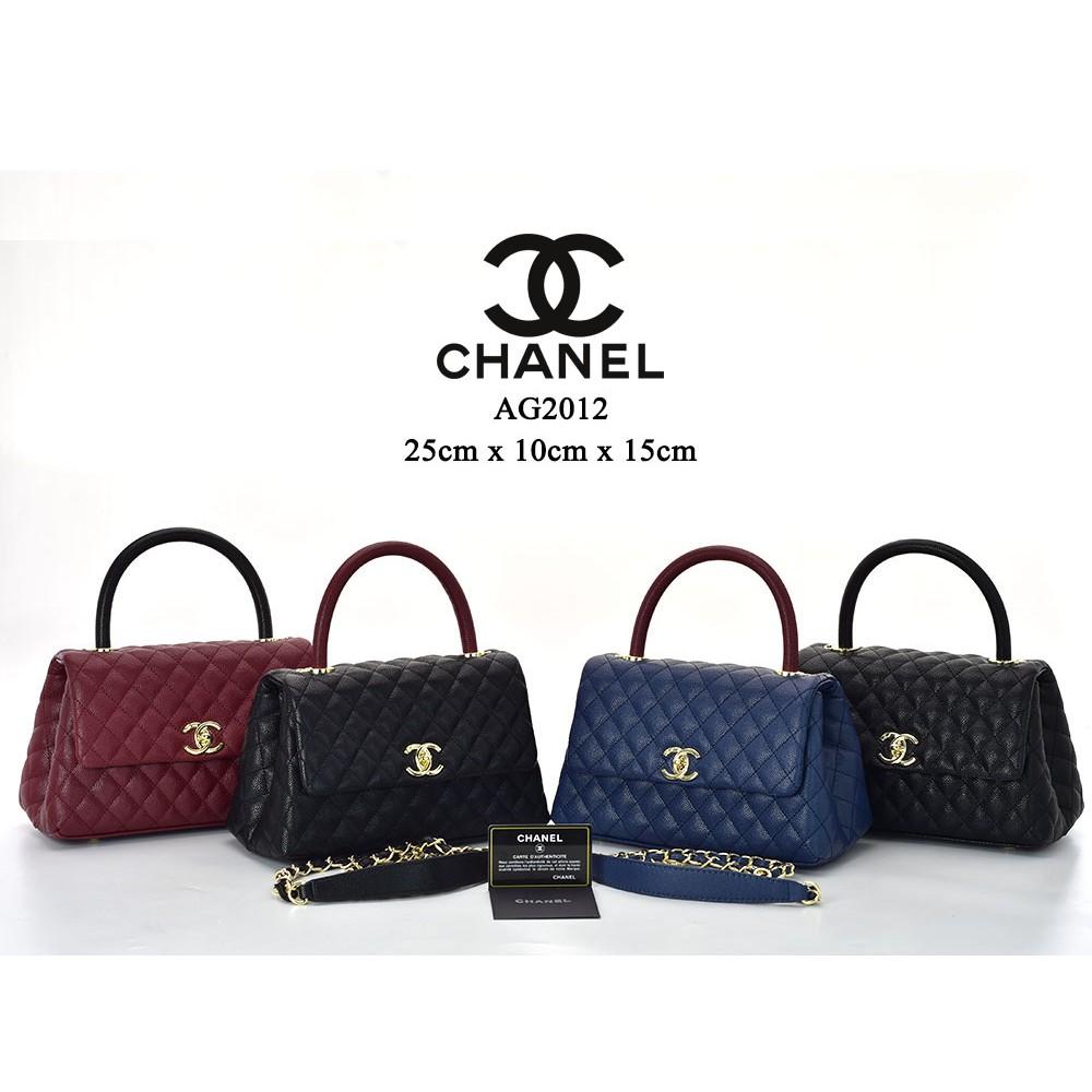 ffb7e7fceeb9 Tas Chanel Chevron So Black Medium Caviar Hitam Semprem AC9605-27   Shopee  Indonesia