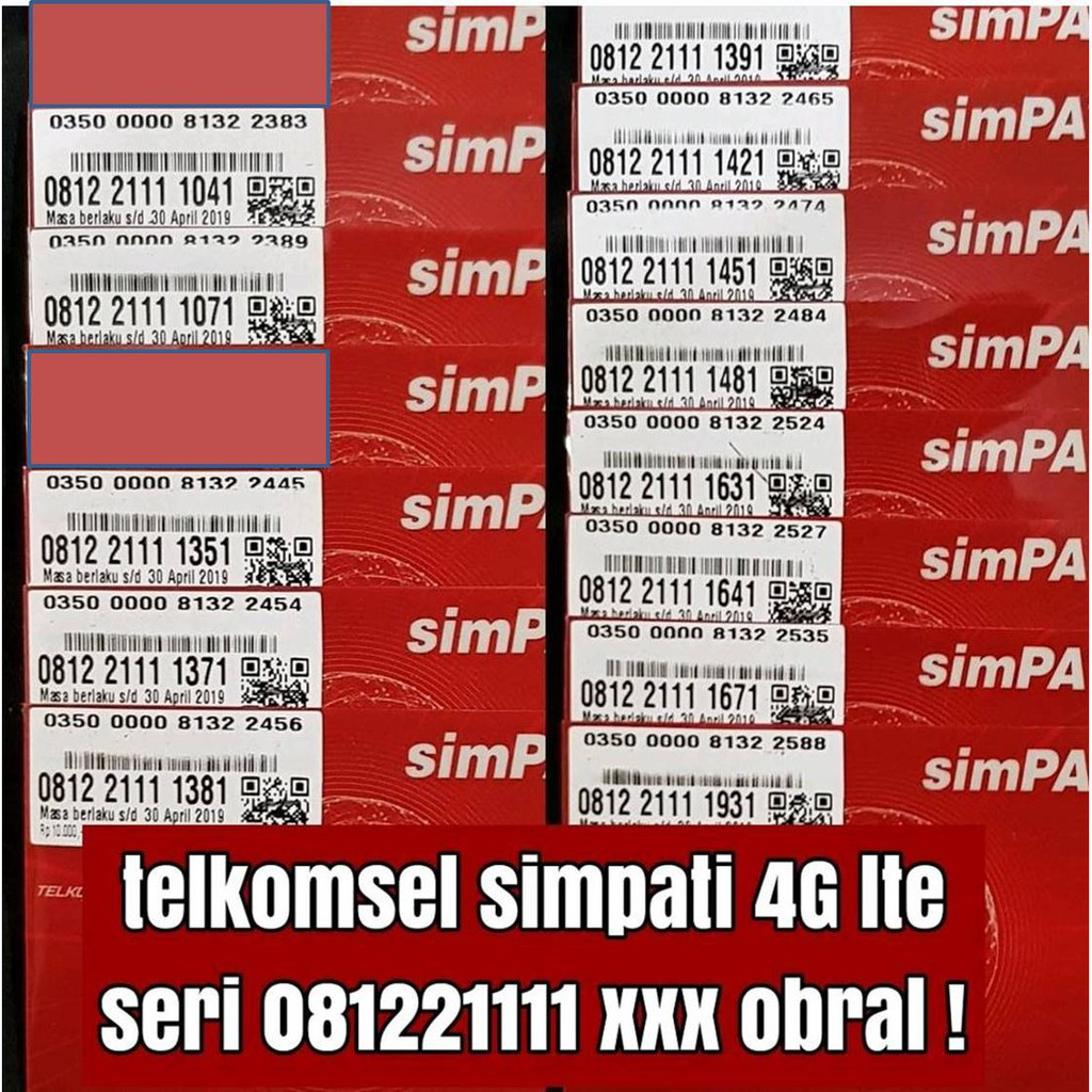 nomer cantik 1933 persib kartu perdana telkomsel simpati nomor 4G lte | Shopee Indonesia
