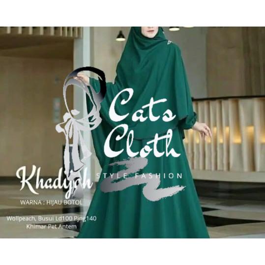 Baju Muslim Khadijah Syari Gamis Set Jilbab Setelan Hijab Murah Terlaris Bahan Moscrepe Shopee Indonesia