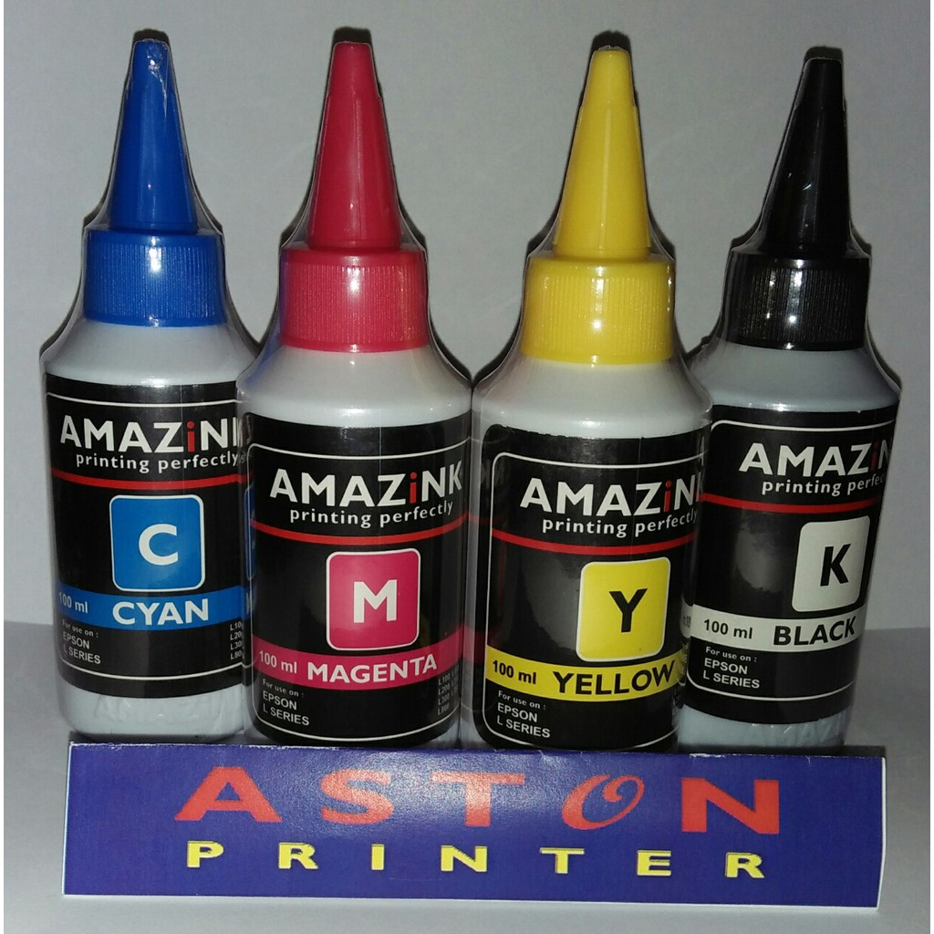 Tinta Amazink Artpaper 100ml Light Cyan Untuk Epson Shopee Indonesia Super Black Pigment