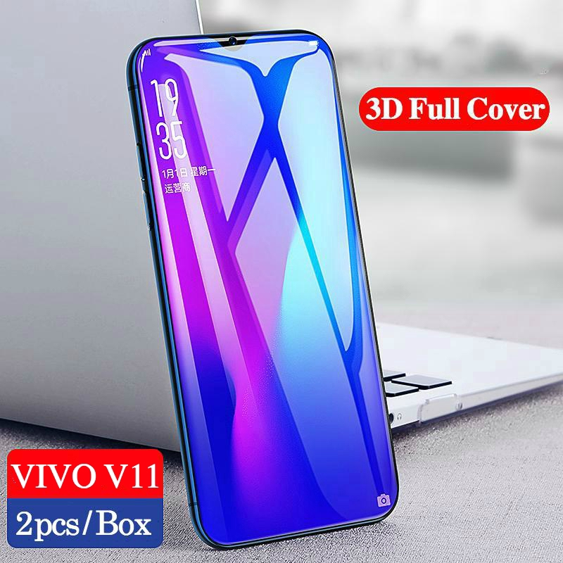 X23 Fingerprint Proof Full Screen Tempered Glass Film yf Toughened Protective Film for Mobile Screen 25 PCS for Vivo V11 Pro