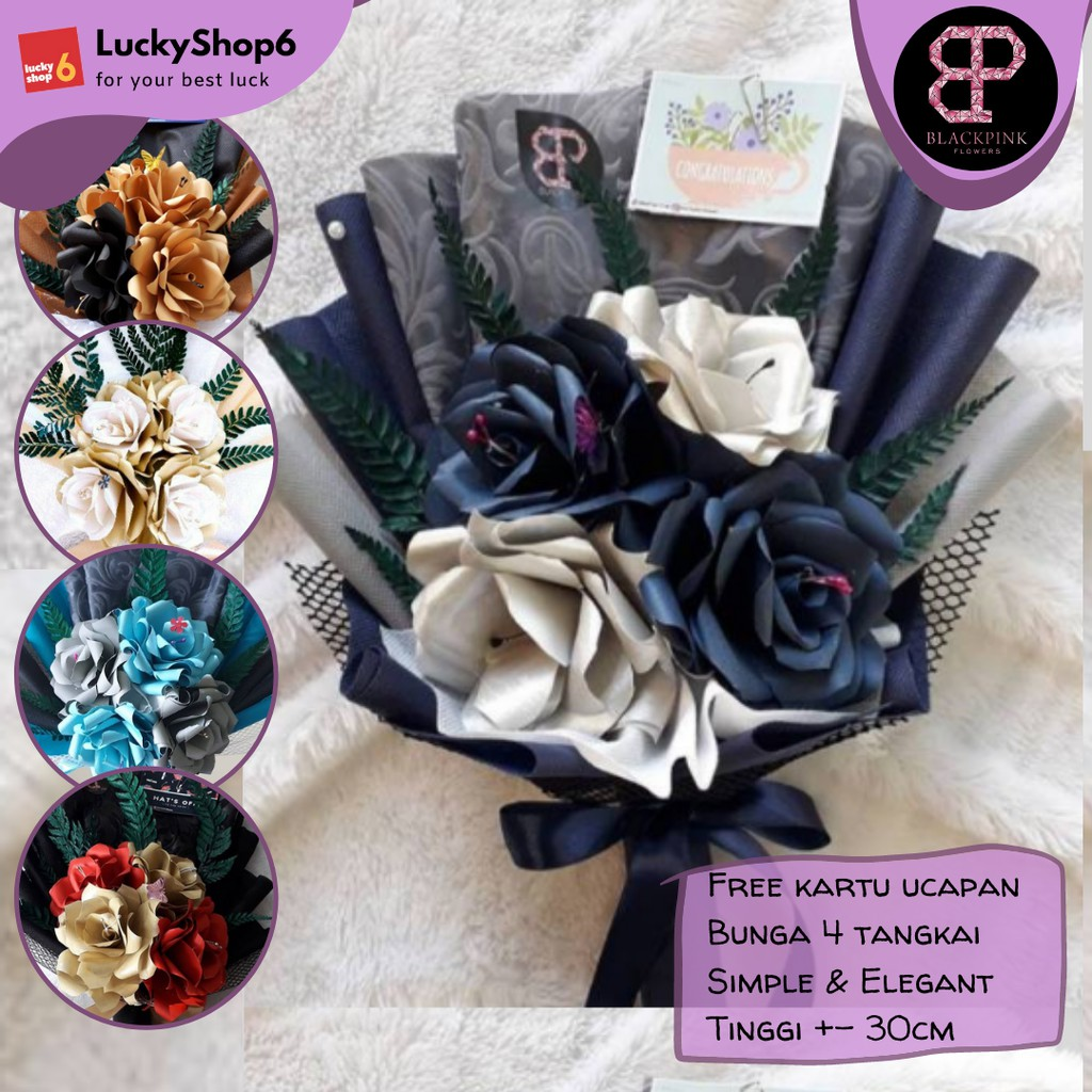 Buket Bunga Kertas DZ Wisuda Murah Flower Bouquet Hadiah Wedding Ulang Tahun Cowok Graduation 2021
