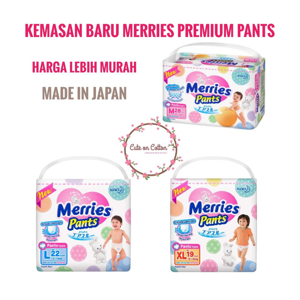 Merries Baby Diapers Pants L 22s Twinpack Free Lock Shopee Good Skin S 40s 2pcs Indonesia
