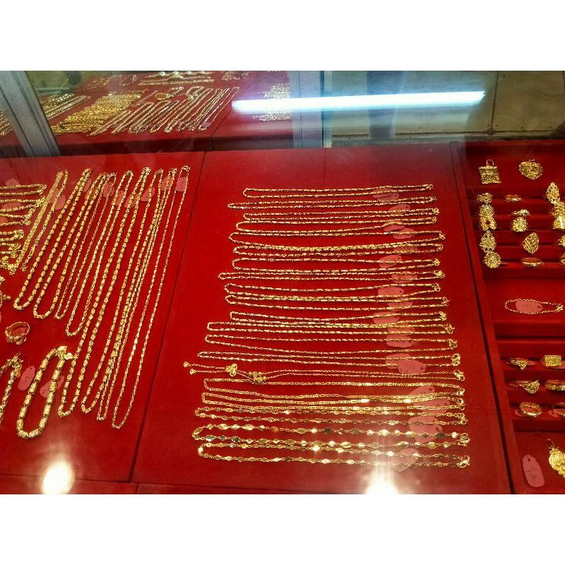 untuk wanita elegan perhiasan kalung gelang cincin emas Palembang 24 k 1 & ½ suku