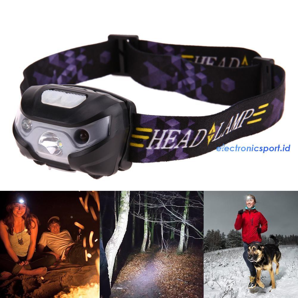 LED Headlamp Camping Hiking Outdoors Train Leaf Jungle Forest 2 Pack